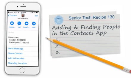 Adding and Finding People in the Contacts App