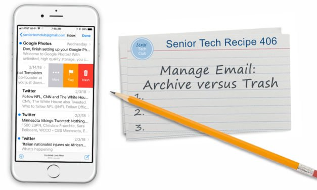 Managing Email: Trash versus Archive