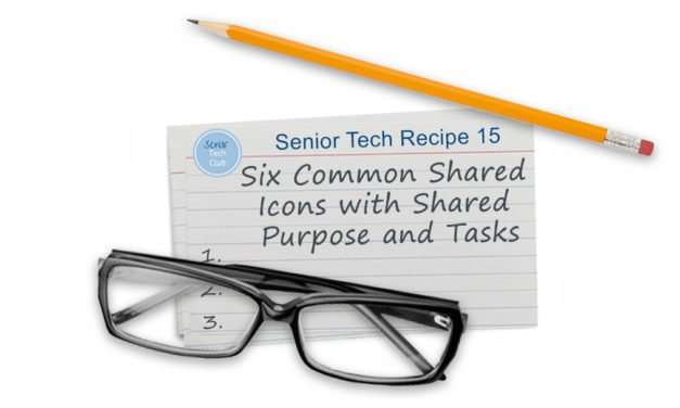 Six Common Shared Icons with Shared Purpose and Shared Tasks