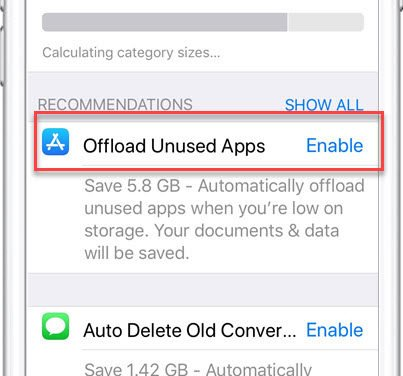 Save Storage Space by Automatically Offloading Unused Apps
