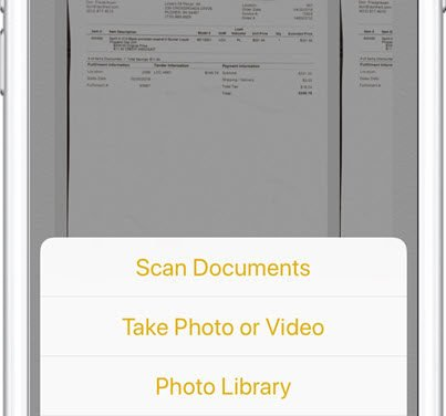 Scan and Store a Document with your iPhone