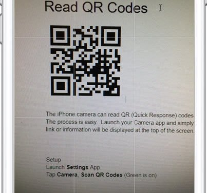 Read QR Codes with your iPhone