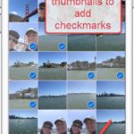 Checkmarks and Add To to batch add photos to albums