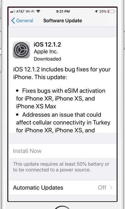 Concerns About IOS 12.1.2 – I'm Waiting