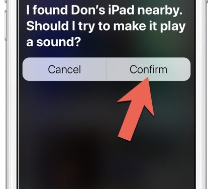 Find your iPhone/iPad Now Works with Siri