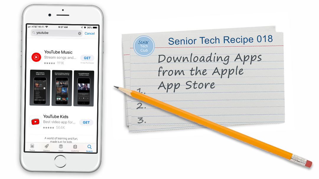 Download Apps in the Apple App Store | Senior Tech Club