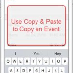 Copy Events in the Calendar App