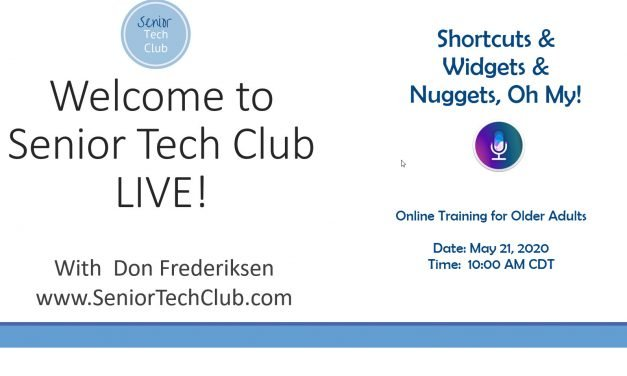 LIVE! #13 – Shortcuts & Widgets & Nuggets, Oh My!