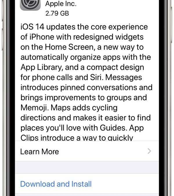 IOS  14.0.1 – A Major Upgrade Recommended